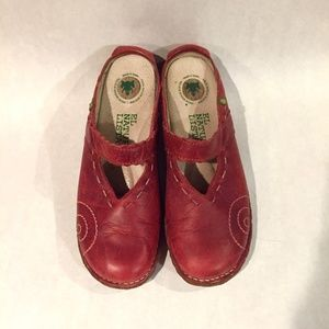 Red El Naturalista Clogs